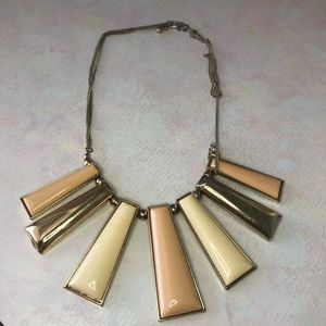 Gold and Nude Multi Level Necklace